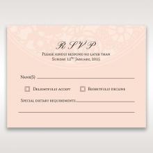 Blush Blooms rsvp invitation