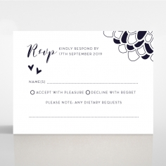 Bohemia rsvp wedding enclosure card design