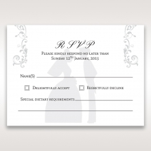 Bridal Romance rsvp wedding card