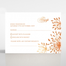 Bursting Bloom wedding rsvp card