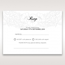Cascading Flowers rsvp card