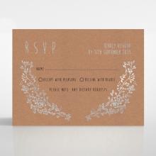 Charming Garland rsvp wedding card design
