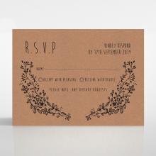 Charming Garland rsvp invite design