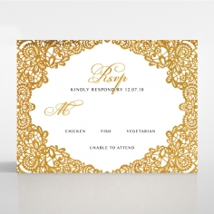 Charming Lace Frame with Foil rsvp design