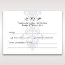 Classic Ivory Damask rsvp invitation design