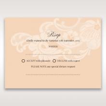 Classic White Laser Cut Sleeve rsvp invite design