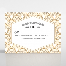 Contemporary Glamour rsvp card
