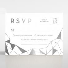 Digital Love rsvp card design