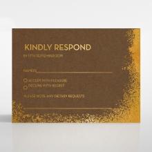 Dusted Glamour rsvp wedding card design
