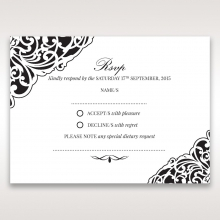 Elegance Encapsulated Laser cut Black rsvp