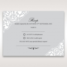 Elegance Encapsulated rsvp card design