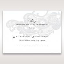 Elegant Black Laser Cut Sleeve rsvp card