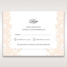 Embossed Floral Frame rsvp wedding enclosure design