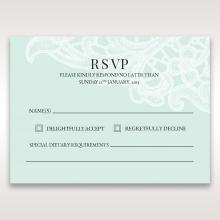 Embossed Gatefold Flowers rsvp invite design