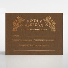 Enchanted Crest rsvp card