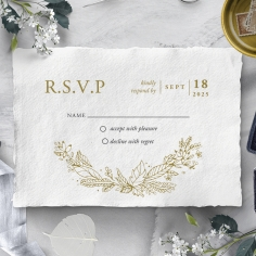 Enchanted Wreath rsvp wedding enclosure card