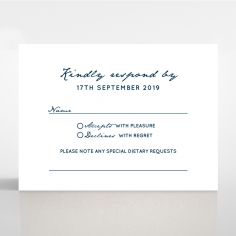 Eternal Simplicity rsvp card design