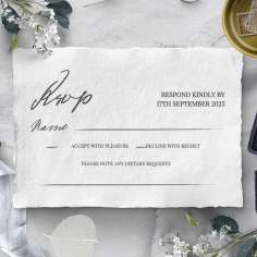Everlasting Devotion rsvp wedding enclosure card design
