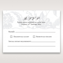 Exquisite Floral Pocket rsvp wedding enclosure card design