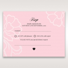 Exquisitely Embossed Floral Pocket rsvp enclosure card