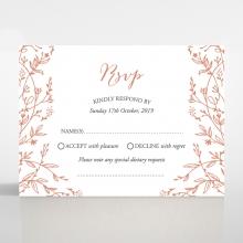 Fleur wedding rsvp card
