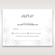 Floral Cluster wedding rsvp card