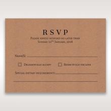Floral Laser Cut Rustic Gem rsvp invite