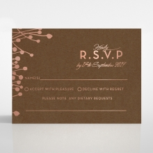Flourishing Romance rsvp wedding card design