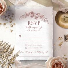 Fragrant Romance rsvp wedding card
