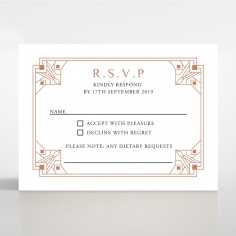 Gatsby Glamour rsvp wedding card