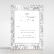 Gilded Decadence rsvp wedding card design