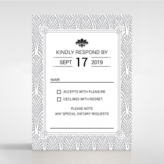 Gilded Decadence rsvp wedding enclosure card