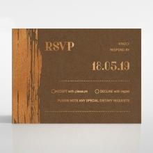 Gilded Stroke rsvp wedding card