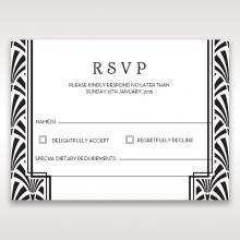 Glitzy Gatsby Foil Stamped Patterns rsvp invite design