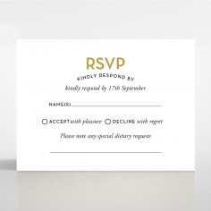 Gold Chic Charm Paper rsvp invitation design