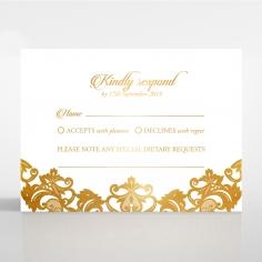 Golden Baroque Pocket with Foil wedding rsvp card