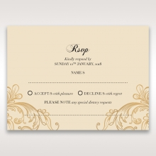 Golden Charisma rsvp wedding enclosure card design