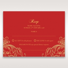 Golden Charisma rsvp wedding enclosure invite design
