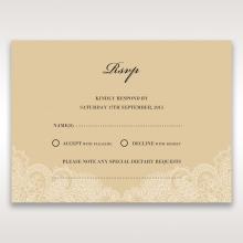 Golden Classic rsvp wedding enclosure invite design