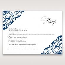 Graceful Ivory Pocket rsvp invitation design
