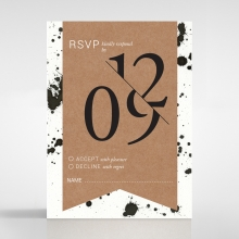 Graffiti rsvp wedding card design