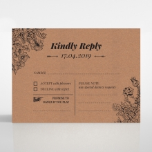 Hand Delivery rsvp invitation