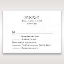 Heavenly Bouquet rsvp invitation