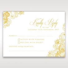 Imperial Glamour with Foil rsvp wedding enclosure card