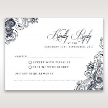 Imperial Glamour without Foil wedding rsvp card
