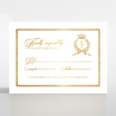 Ivory Doily Elegance with Foil rsvp wedding enclosure invite design