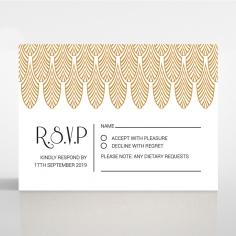 Jeweled Ikat rsvp wedding enclosure invite design