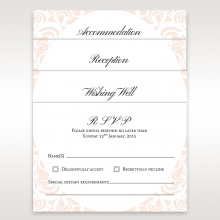 Laser cut Bliss rsvp enclosure card