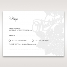Laser Cut Floral Wedding rsvp card design