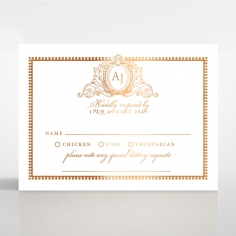 Lux Royal Lace with Foil rsvp invitation design